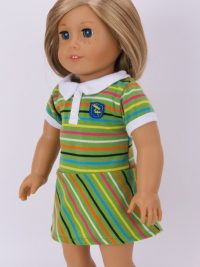 196greenstripedress