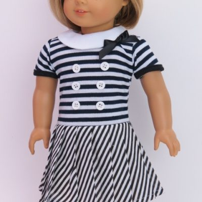 230blkwhtstripedress