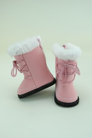 Pink Fur Trimmed Boots Fits American Girl Dolls